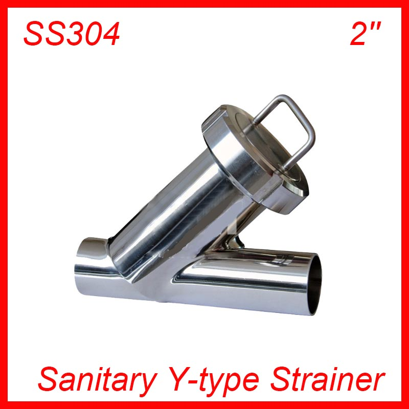 2'' Sanitary Stainless Steel SS304 Y type Filter Strainer f Beer/ dairy/ pharmaceutical/beverag /chemical industry 1 5 hygienic stainless steel ss304 inline straight strainer filter f beer dairy pharmaceutical beverag chemical industry