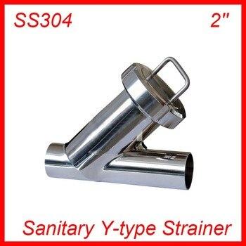 2'' Sanitary Stainless Steel SS304 Y type Filter Strainer f Beer/ dairy/ pharmaceutical/beverag /chemical industry