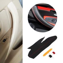 Car Interior Hand Sewing Door Panel Handle Pull Trim Cover For BMW 3 4 Series 320 318 325 2013 2014 2015 2016 2017 M4 Sport