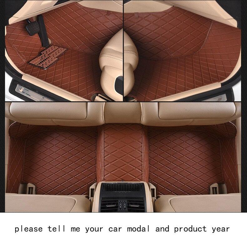 Fit TOYOTA Camry firm pu leather Wear-resisting Car floor mats black grey Non-slip custom made waterproof car floor Carpets