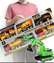 Ant 1:32  toy car Kids Toys Diecast Vehicle Construction Bulldozer Excavator Engineering excavator Mini Car