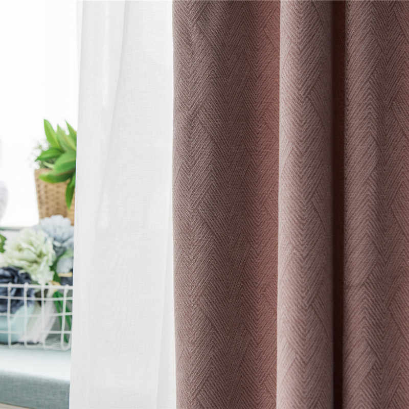 Semi blackout Curtains for the Bedroom Solid Pink Curtains for the Living Room Window White Curtains Blinds Customize Su409 *30