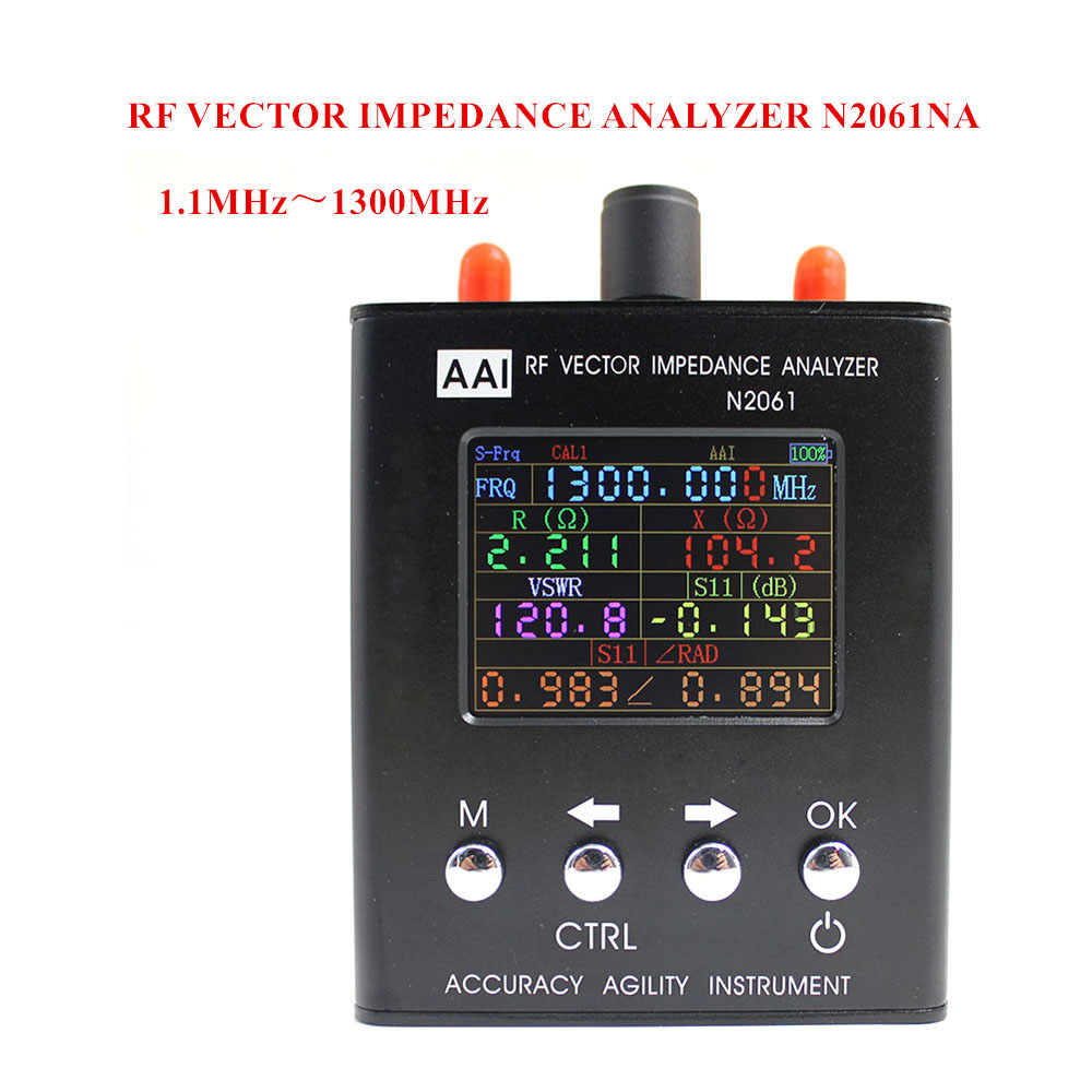 N2061SA Short Wave Antenna Analyzer Frequency range 1 1MHz 1300MHz resistance impedance SWR s11 Upgraded version