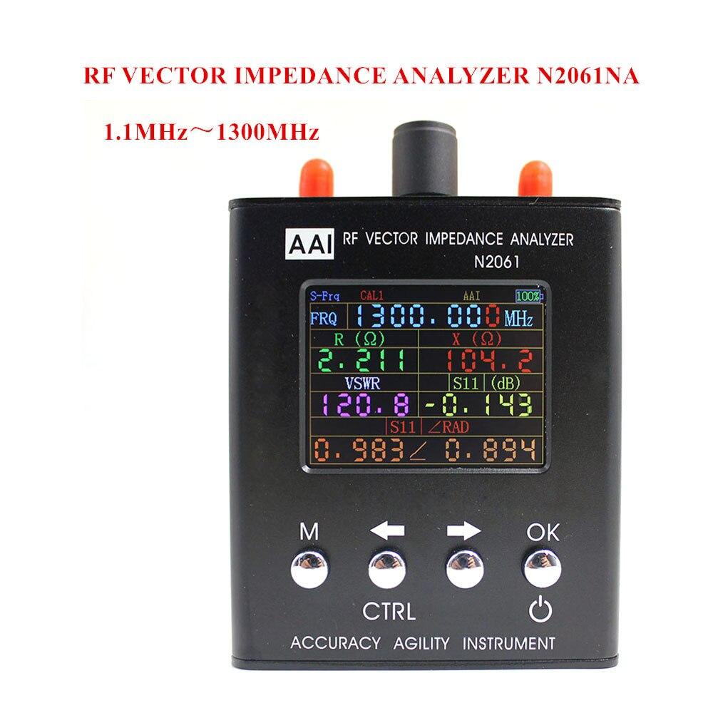 N2061SA onda corta antena analizador rango de frecuencia 1,1 MHz ~ 1300 MHz resistencia/impedancia/SWR/s11 (versión actualizada para N1201SA)
