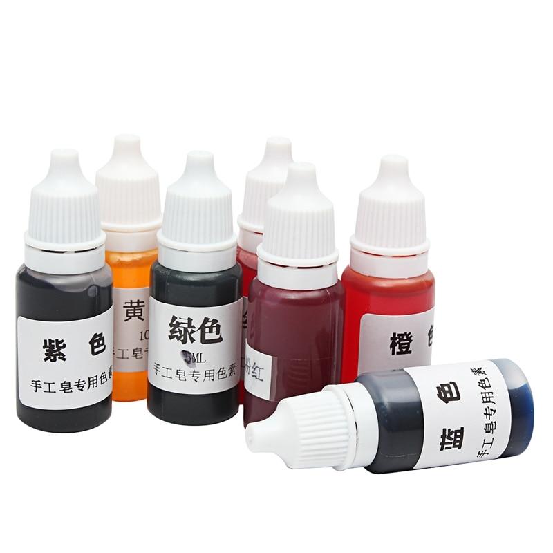 7 шт./компл. 10 мл 7 цветов краситель для мыла ручной работы пигменты База Цвет жидкий пигмент DIY ручной краситель для мыла набор инструментов МАТЕРИАЛЫ