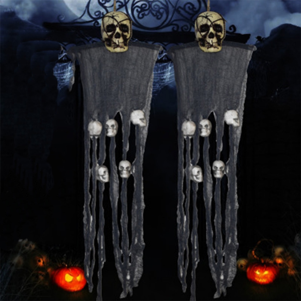 1 pc scary ghost halloween props bar night horror spoof house decoration hanging pendant party supplies - Scary Props