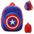 IVI Капитан Америка Рюкзак Дети детский сад мальчик рюкзак детские Плюшевые детей школьного сумки дизайн малыш девушки рюкзаки