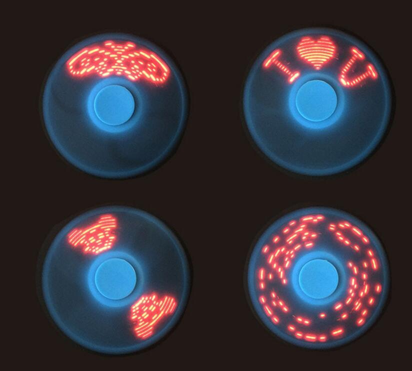 Новый Дизайн палец Спиннеры светодиодная вспышка слово свет EDC стресс колесо для детей аутизм СДВГ беспокойство стресса фокус Игрушечные лошадки