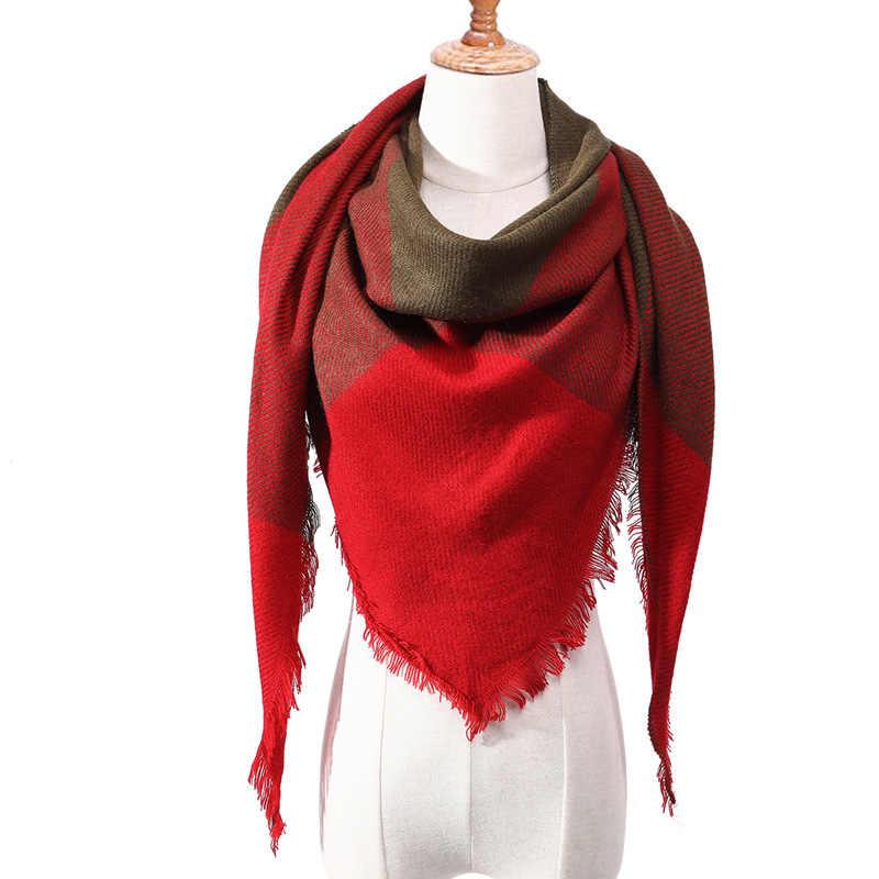 140*140*210 cm di Modo di Imitazione del Cachemire Sciarpa Semplice Geometrica del Triangolo di Colore Solido Della Sciarpa Degli Uomini di Marca Delle Donne di Lusso spalla caldo