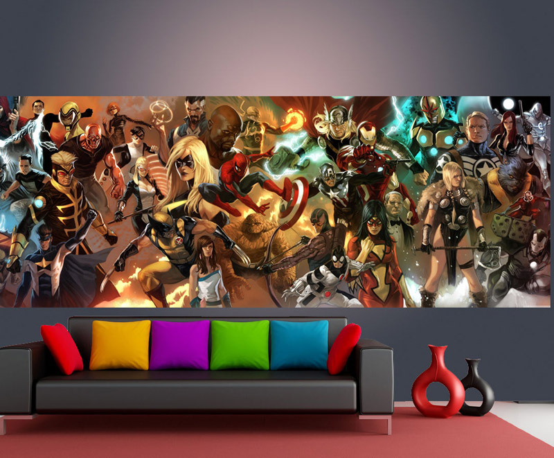 Custom Wall Mural Marvel Comics Photo Wallpaper Superhero Home Decor