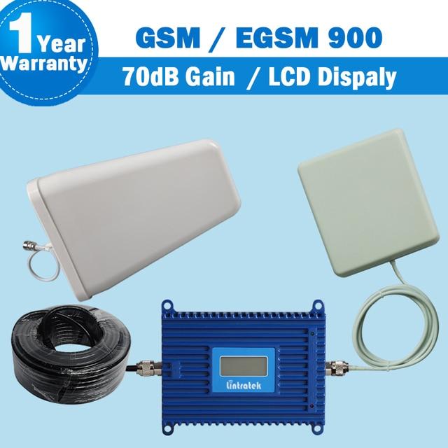 Display LCD GSM EGSM 900 mhz Sinal de Telefone Celular Impulsionador 880-960 Mhz GSM 900 Amplificador de Telefone Celular Móvel 70dB Ganho Impulsionador Celular