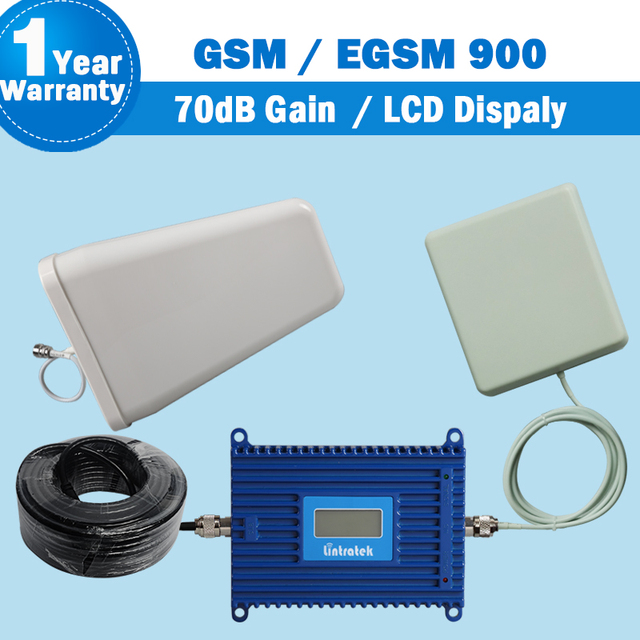 LCD Display GSM EGSM 900mhz Cell Phone Signal Booster 880-960Mhz GSM 900 Mobile Cell Phone Amplifier 70dB Gain Cellular Booster