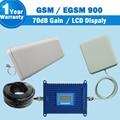 Pantalla LCD GSM EGSM 900 mhz Teléfono Celular Amplificador de Señal 880-960 Mhz Amplificador GSM 900 Teléfono Celular Móvil 70dB de Ganancia de Refuerzo Celular