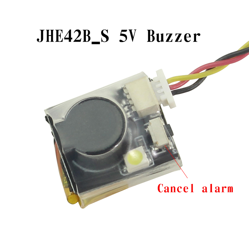 JHE42B_S 5V Super Loud Buzzer Tracker 100dB With LED Buzzer Alarm For FPV Racing Drone Flight Controller|Parts & Accessories|   - AliExpress