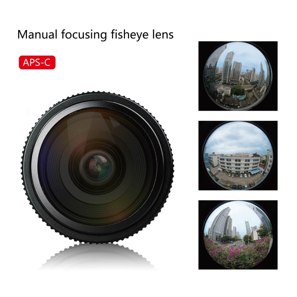 Meike 6.5mm Ultra Wide f/2.0 Fisheye Lens for Sony E-mount mirorrless cameras A6500 A6300 A6000 Nex3,Nex3n,Nex5,Nex5t,Nex6,Nex7