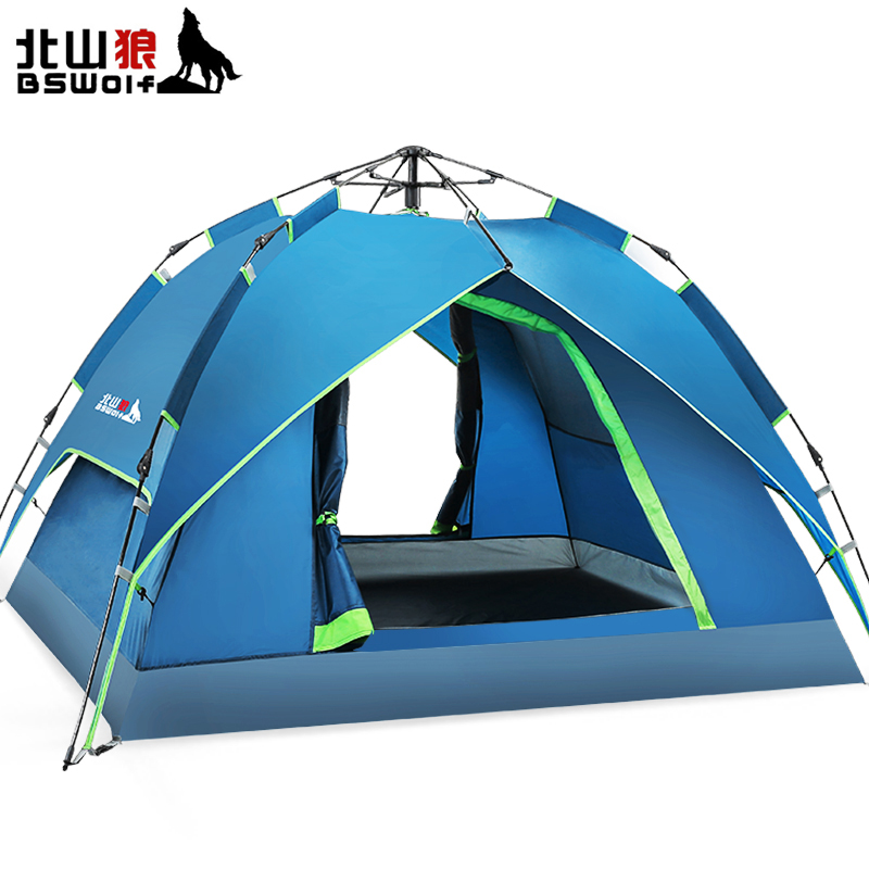 BSWolf 2018 New Type Ultralight Automatic Tent 2 Persons Waterproof Beach Tents Outdoor Camping Pop Up Tourist Tent For Hiking bswolf new design outdoor camping tent portable travel double layer 190t polyester tent tourist 2 person waterproof beach tents