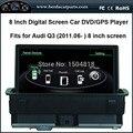 """8 """"tela de toque DVD player do carro para Audi Q3 (2011.06-2015) Win CE 6.0 do sistema, suporte disco rígido, MP5 e GPS mapa 3D"""
