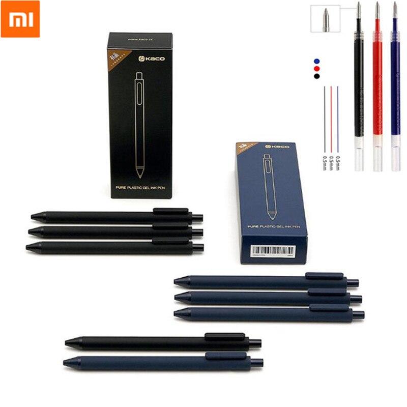10 Teile/satz Xiaomi Mijia Kaco Zeichen Stift 0,5mm Stift Kugelschreiber Core Durable Unterzeichnung Stift Refill Schwarz Tinte Für Student /büro Arbeiter