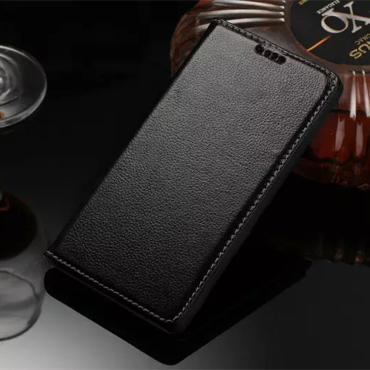 100 Top Cowhide Genuine Leather Flip case For Sony Xperia Z5 Sony Z5 with Real Leather