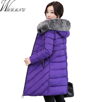 Wmwmnu New Winter Coat Women 2017 Thick Warm Winter Slim Jackets Female Fur Collar Hooded Parka