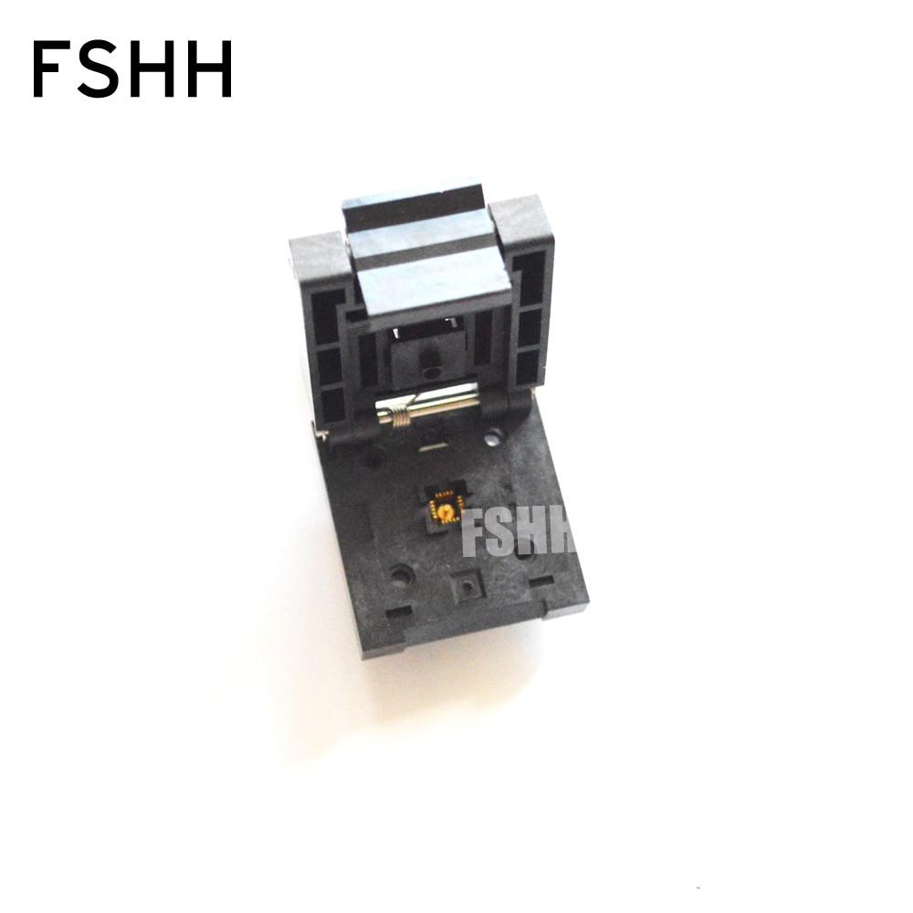 QFN20 test socket WSON20 DFN20 MLF20 IC SOCKET Pitch=0.5mm Size=4x4mm module qfn20 mlp20 mlf20 qfn 20bt 0 5 01 qfn enplas ic test burn in socket programming adapter 4x4mm 0 5pitch free shipping