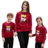 Famiglia Famiglia Abbigliamento Corrispondenza Vestiti 2018 Autunno Cotone A Maniche Lunghe Sguardo Famiglia Madre Figlia del Padre Baby Girl Boy Vestiti