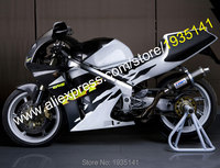 Hot sprzedaż dla hondy rvf400r body kit 1994 1995 1996 1997 1998 rvf35 rvf400 nc35 r 94-98 czarny biały tanie motocykle fairing