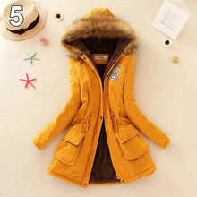 Women Candy Color Winter Thick Jacket  Coat Warm Faux Fur Hooded Outwear Causal Long Sleeve Coat Plus Size