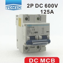 PV 시스템 용 2P 125A DC 600V 회로 차단기