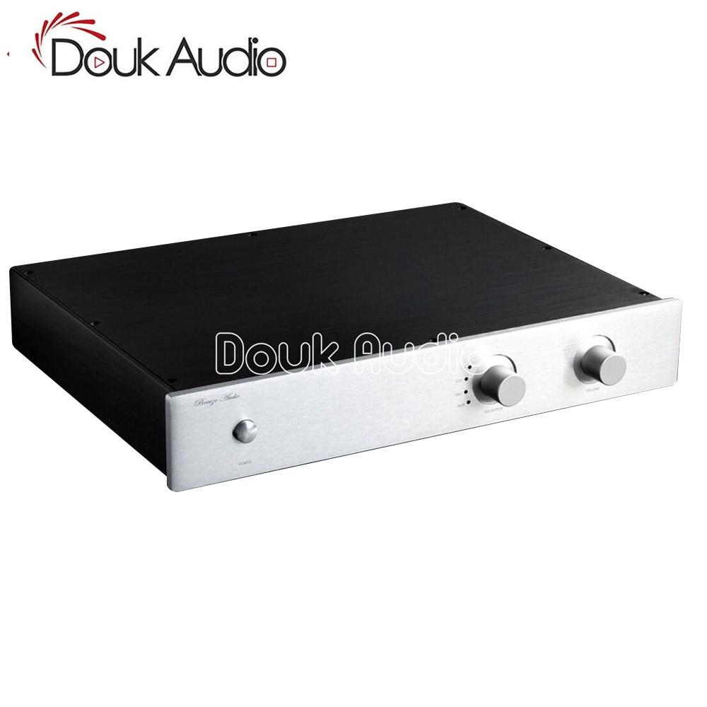 Douk Audio Preamplifier Chassis Aluminum Case DIY Enclosure Flat type Box For Audiophile douk audio front panel radiating aluminum chassis power amplifie cabinet diy case black box