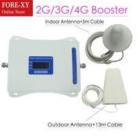 ЖК дисплей Дисплей 2 г 3g 4G трехдиапазонный усилитель сигнала GSM 900/DCS LTE 1800/WCDMA UMTS 2100 мГц мобильный усилитель сигнала повторитель