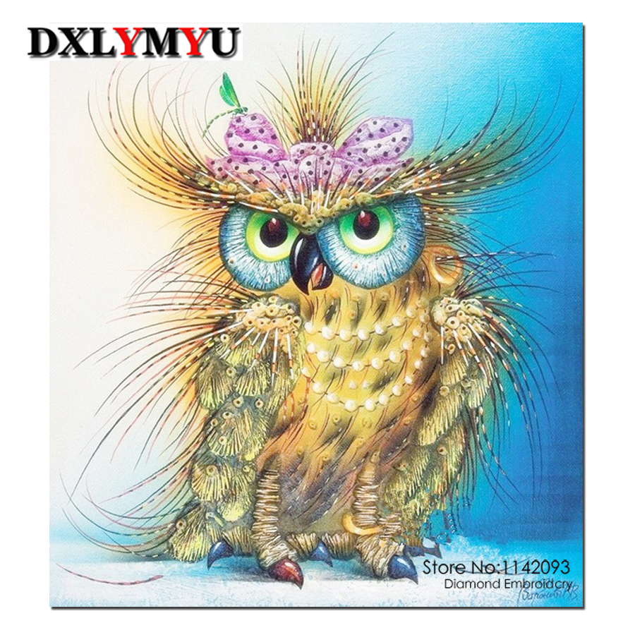 the owl picture 5D square full drill diy diamond painting crystal diamond embroidery cross stitch rhinestones mosaic crafts