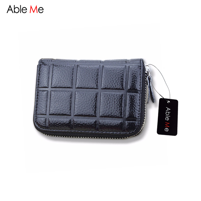Ableme credit card holder short women wallet portable business card ableme credit card holder short women wallet portable business card pocket bag grid pattern men functional colourmoves