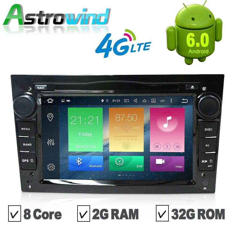 8 Ядро, 2 Г RAM 32 Г ROM, Android 6.0 Dvd-плеер Автомобиля GPS Навигационная Система Сми стерео Радио для Opel Vectra Astra Zafira Antara
