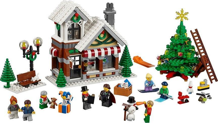 WAZ Compatible Legoe creator 10249 Lele 39015 945pcs Winter Toy Shop Figure building blocks Bricks toys for children waz compatible legoe city 60160 lepin 2017 02062 460pcs jungle mobile lab figure building blocks bricks toys for children