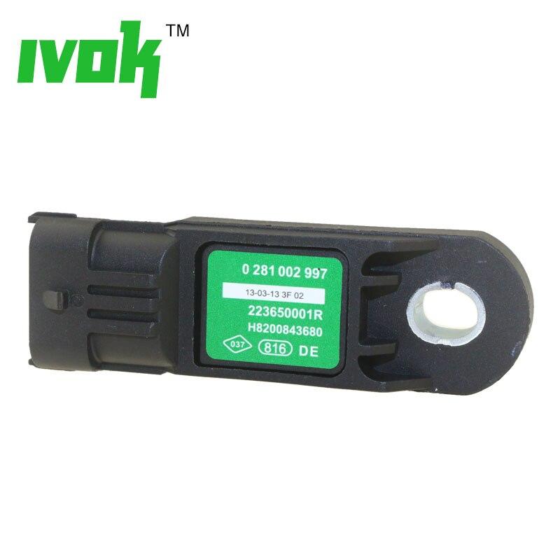 MAP Sensor Manifold Absolute Turbo Intake Air Boost Pressure Sensor 0281002996 55219295 55209194 For FIAT 500 DOBLO PANDA PUNTO