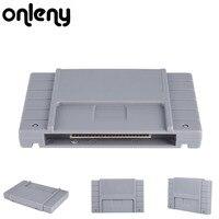 Onleny 16ビットドライブフラッシュカートリッジゲームカード用スーパーマリオすべてスターコントラiiiテレビビデオゲームコンソールゲームカードプラグ&プレ