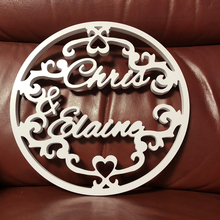 Personalized Rustic Wedding Cake Topper, Mr and Mrs Decor, Wood Wreath Custom Last Name Topper