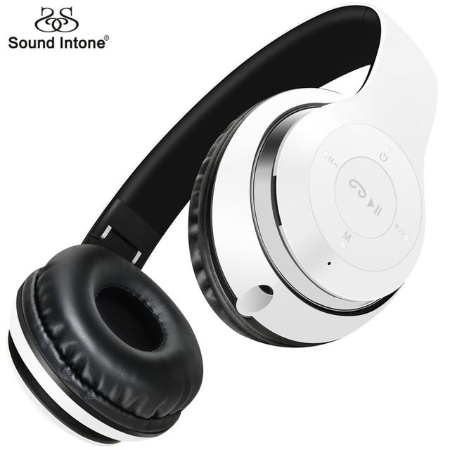 Sound Intone B09 Наушников Беспроводная Гарнитура Bluetooth 4.0 Стерео Студия Наушники с Микрофоном На Ухо для Компьютерной Игры Сотовый Телефон