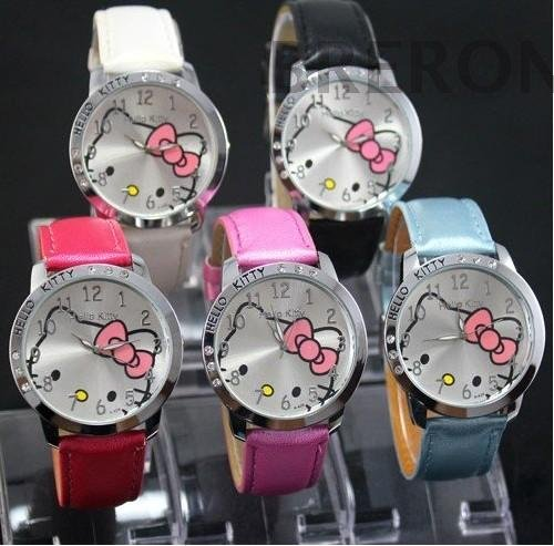 Hot Sales Cute Hello Kitty Cartoon Watches Children Girls Women Crystal Dress Quartz WristWatch Mix Color hot sales cute hello kitty watches cartoon watch children girl women crystal dress quartz wristwatches 048 27