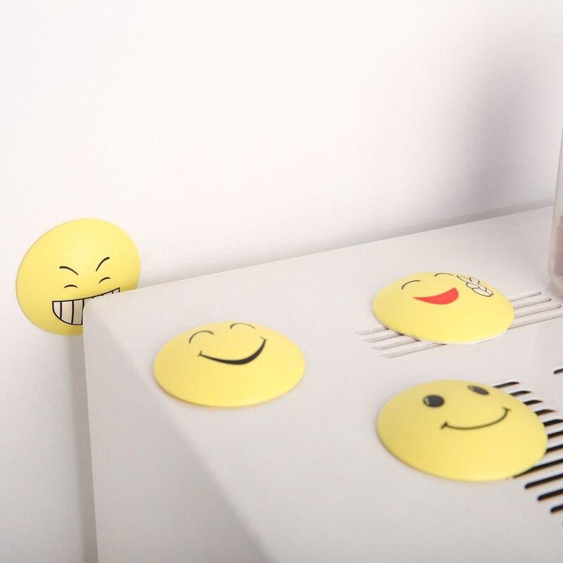 Furniture 4pcs Rubber Door Handle Knob Smile Face Emoji Sticker Crash Pad Wall Protector Bumper Guard Anti Collision Stopper Hg99
