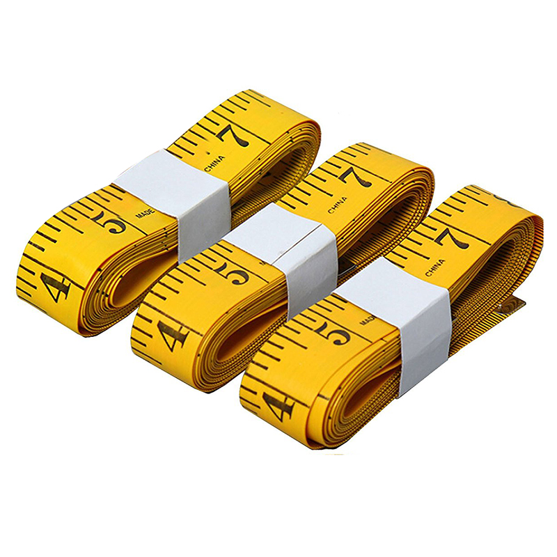 3pcs Tape Measure 3m/118 Inch Double-scale Soft Tape Weight Loss Medical Body Measurement Sewing Tailor Cloth Ruler Tape Measure