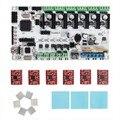 O Envio gratuito de Impressora 3D Kits de Início Placa Mãe Rumba Board Com 6 pcs A4988 Stepper Motorista 6 pcs Dissipador De Calor de 3 pcs Adesivo