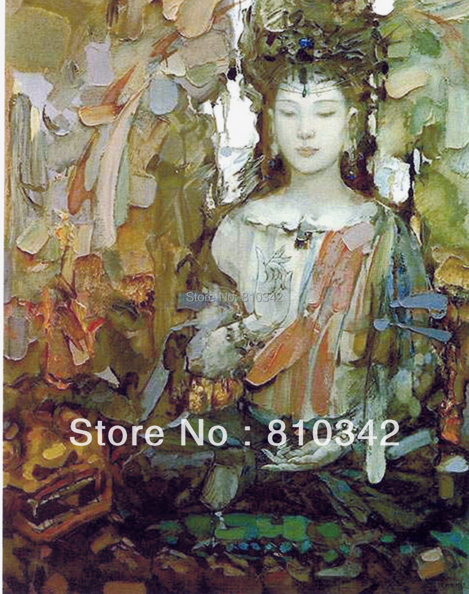 Buddha Oil Painting Reproduction Font