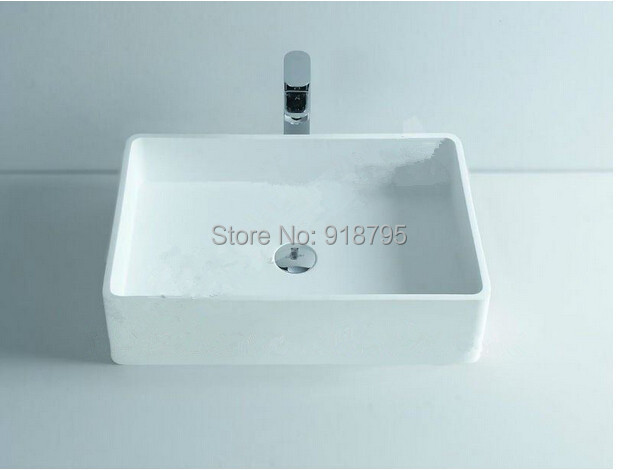 Rectangular bathroom solid surface stone counter top sink fashionable  single wash basin RS3812 480. Popular Countertop Solid Surface Buy Cheap Countertop Solid