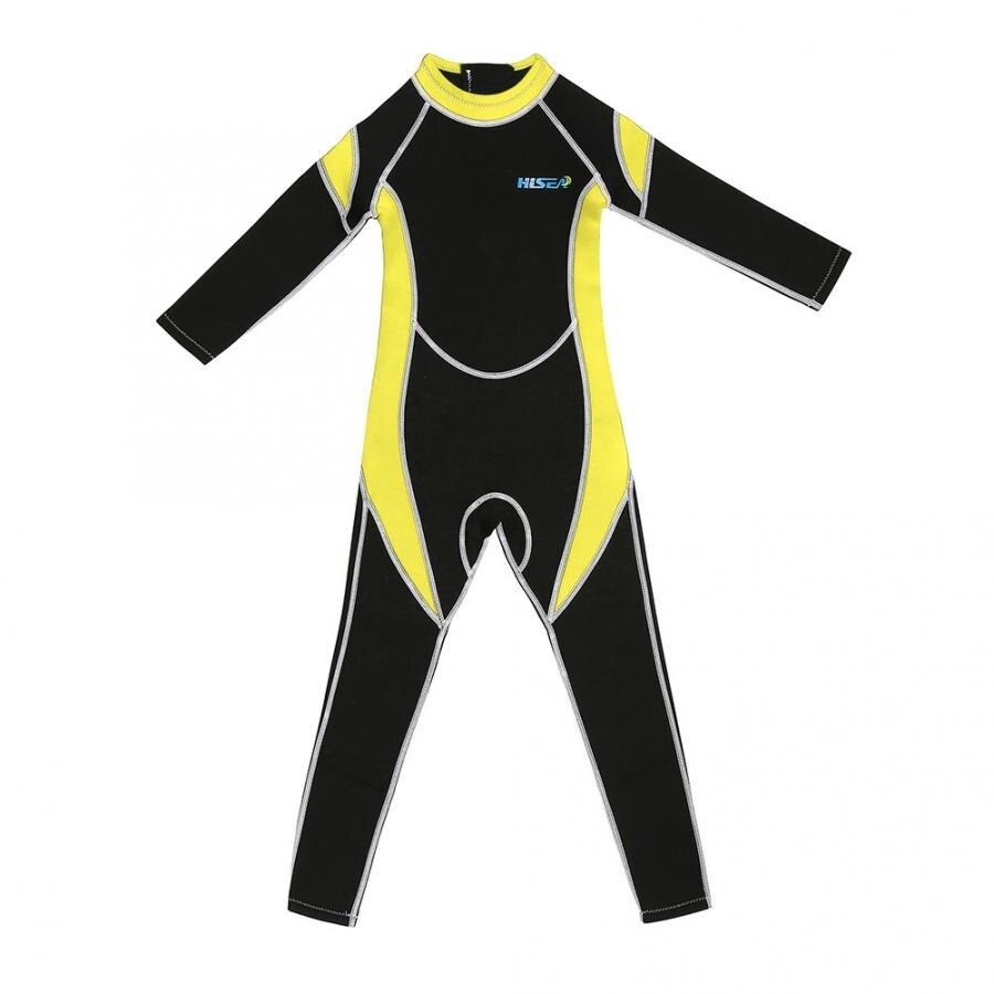 Long Sleeve Kids Neoprene Scuba One-piece Diving Snorkeling Wet Suit Long Sleeve Surfing Swimwear  3mm