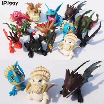 13pcs/lot How To Train Your Dragon Night Fury Dragon Figures 2 PVC Figure Toys Hiccup Toothless Skull Gronckle Deadly Nadder