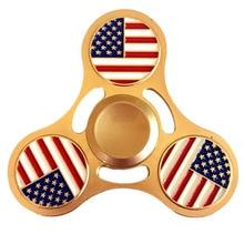 2017แฟชั่นธงสีดำG Lodสามเหลี่ยมHandspinnerสามเหลี่ยมปลายนิ้วGyroscopeอยู่ไม่สุขปั่นGyroโลหะของเล่น