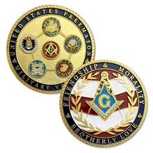 US Veteran Military Coin Air Force Navy Marine Corps Army Coast Guard Challenge Masonic Accessories