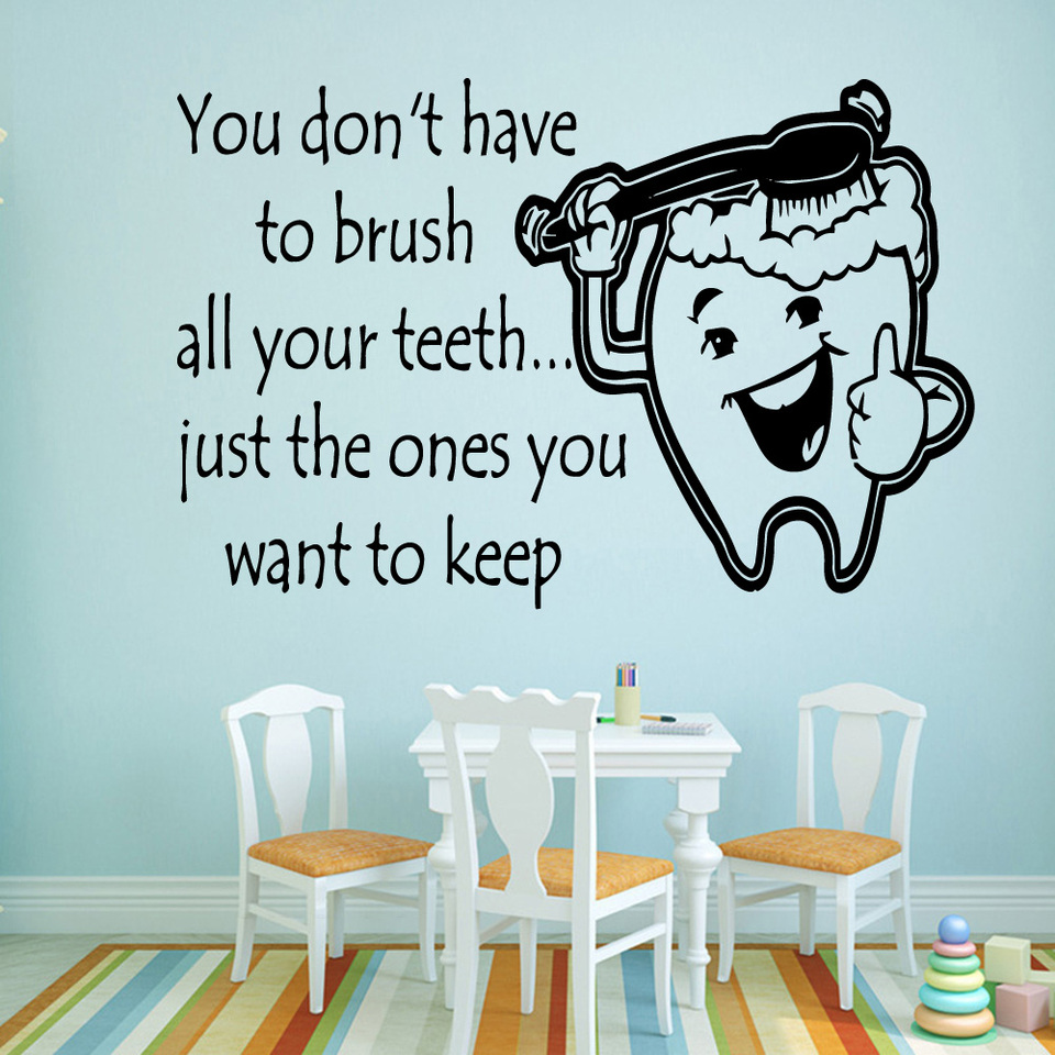 Teeth Vinyl Wall Stickers Decor